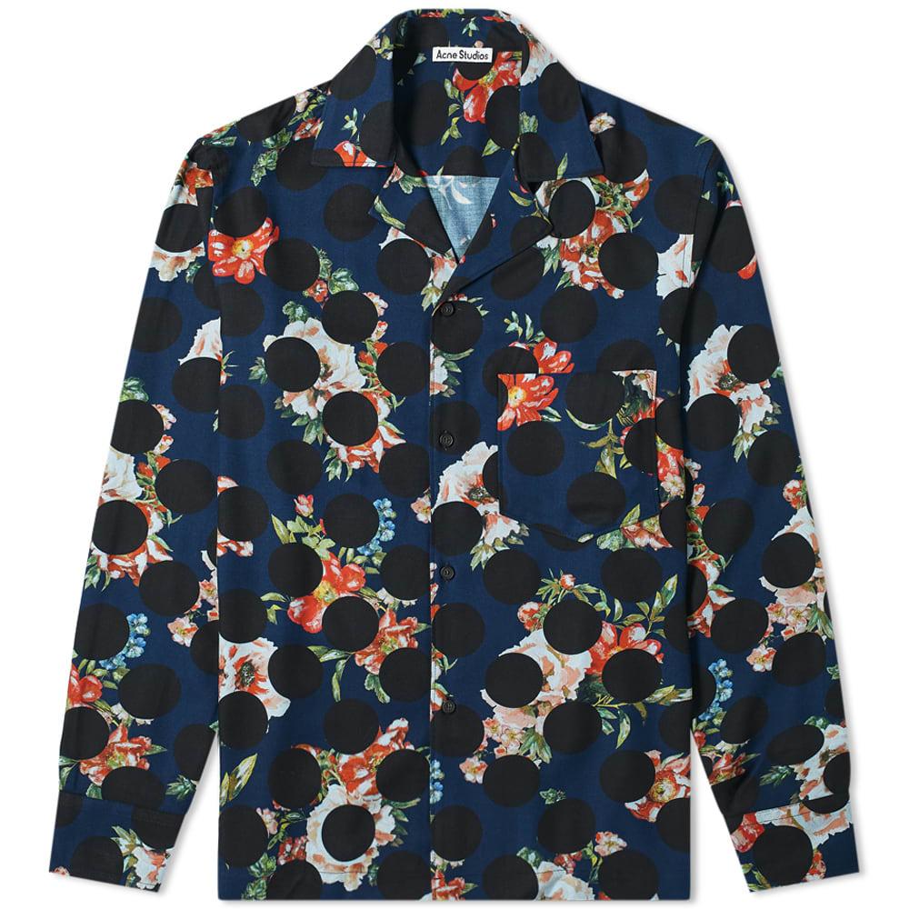 Acne Studios Simon Floral Polka Print Shirt