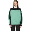 Martine Rose Green and Black Collapsed Sweatshirt