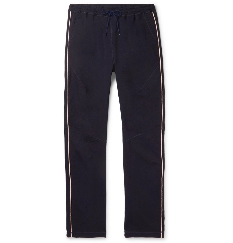 Photo: nonnative - Coach Tapered Piped Tech-Jersey Track Pants - Navy