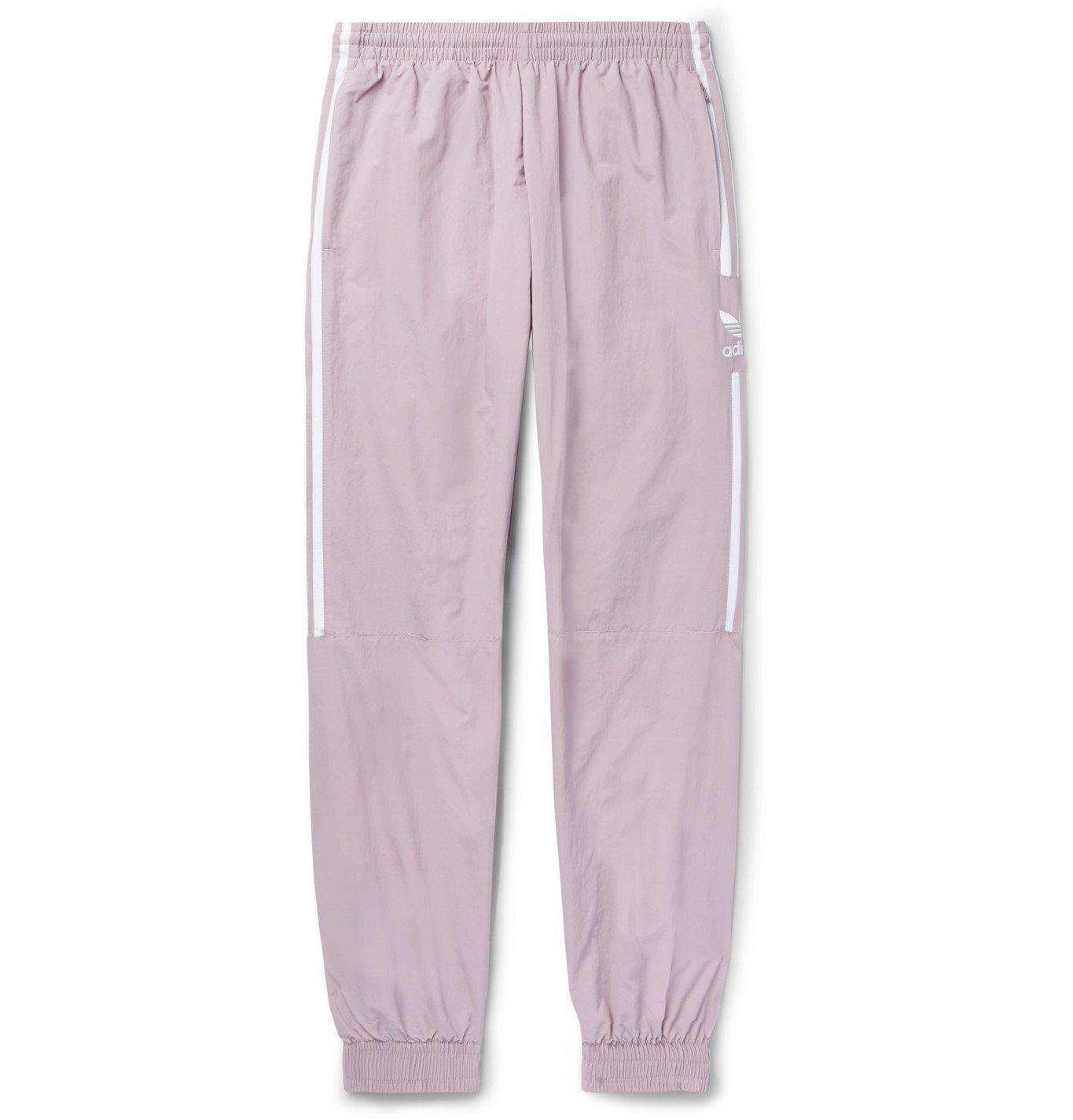 Photo: adidas Originals - Logo-Embroidered Nylon Track Pants - Purple