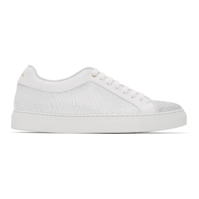 Photo: Paul Smith White Crackle Basso Sneakers