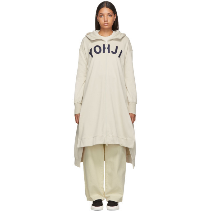 Photo: Y-3 Beige Yohji Letters Full-Zip Dress