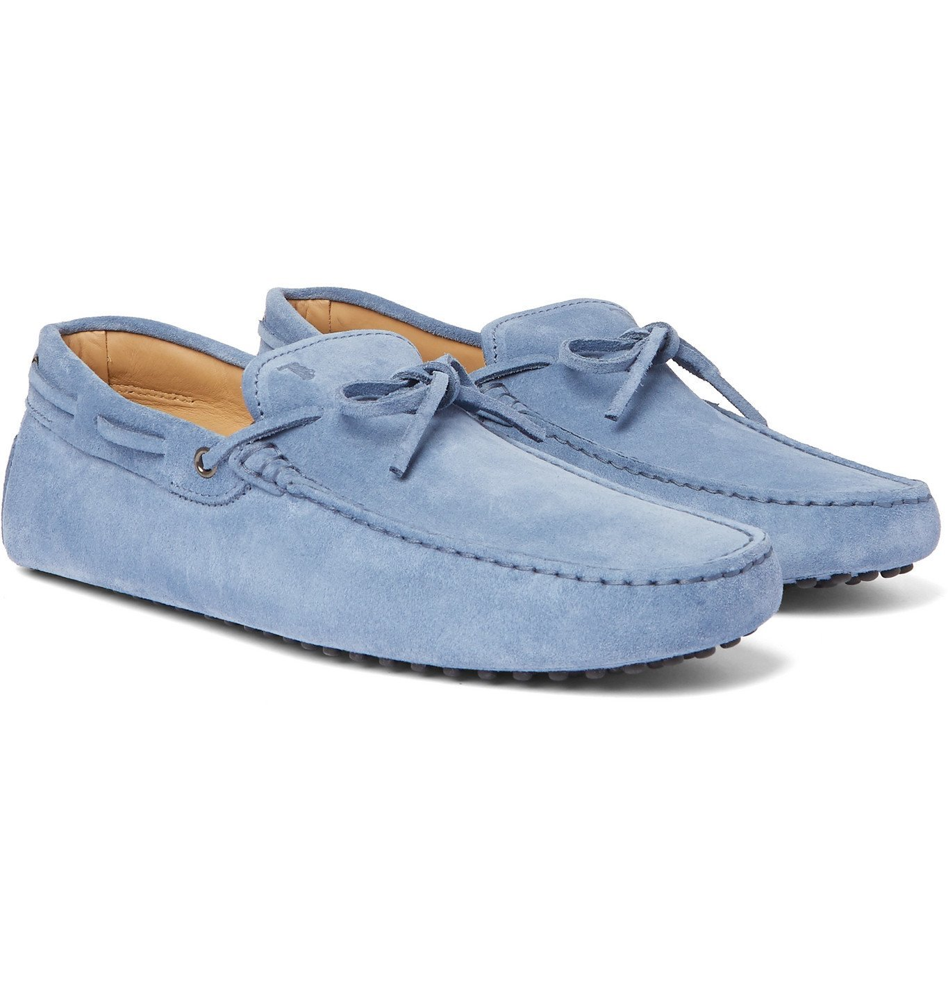 Photo: Tod's - Gommino Suede Driving Shoes - Blue