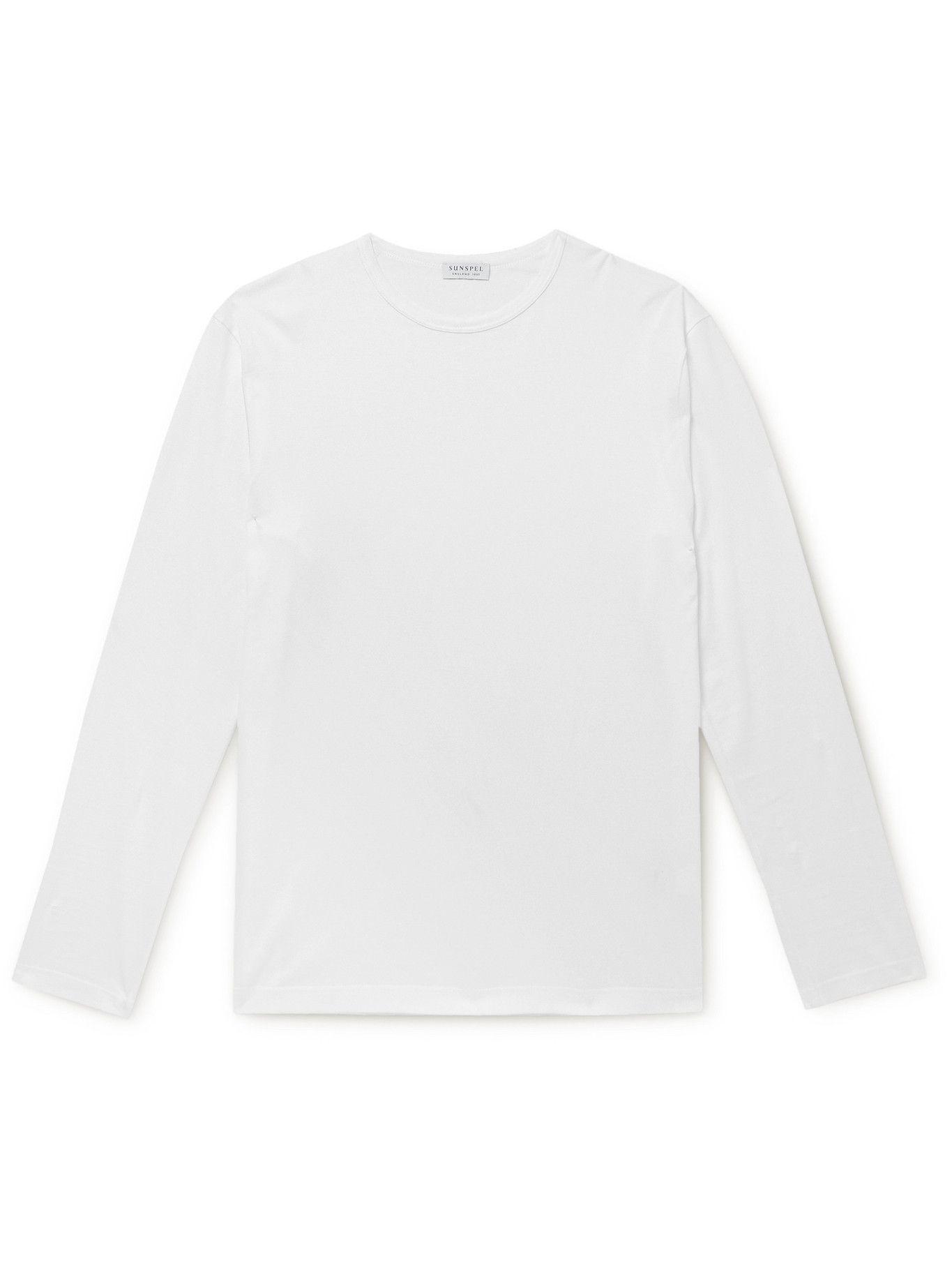 Photo: SUNSPEL - Pima Cotton-Jersey T-Shirt - White