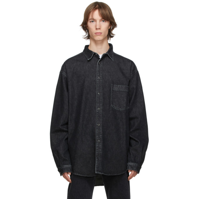 Photo: VETEMENTS Black Washed Denim Shirt