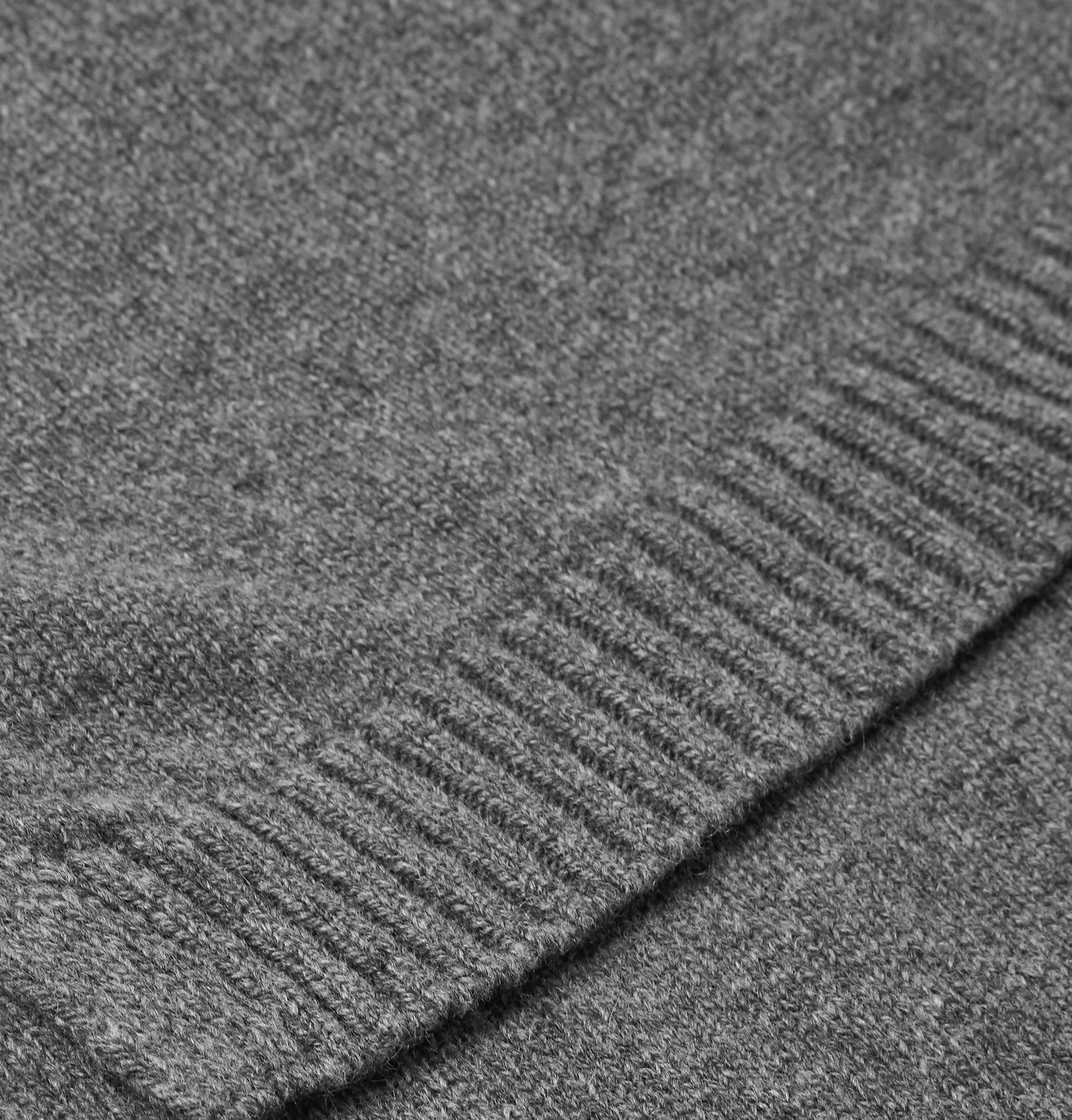 Officine Generale - Cashmere and Wool-Blend Scarf - Gray