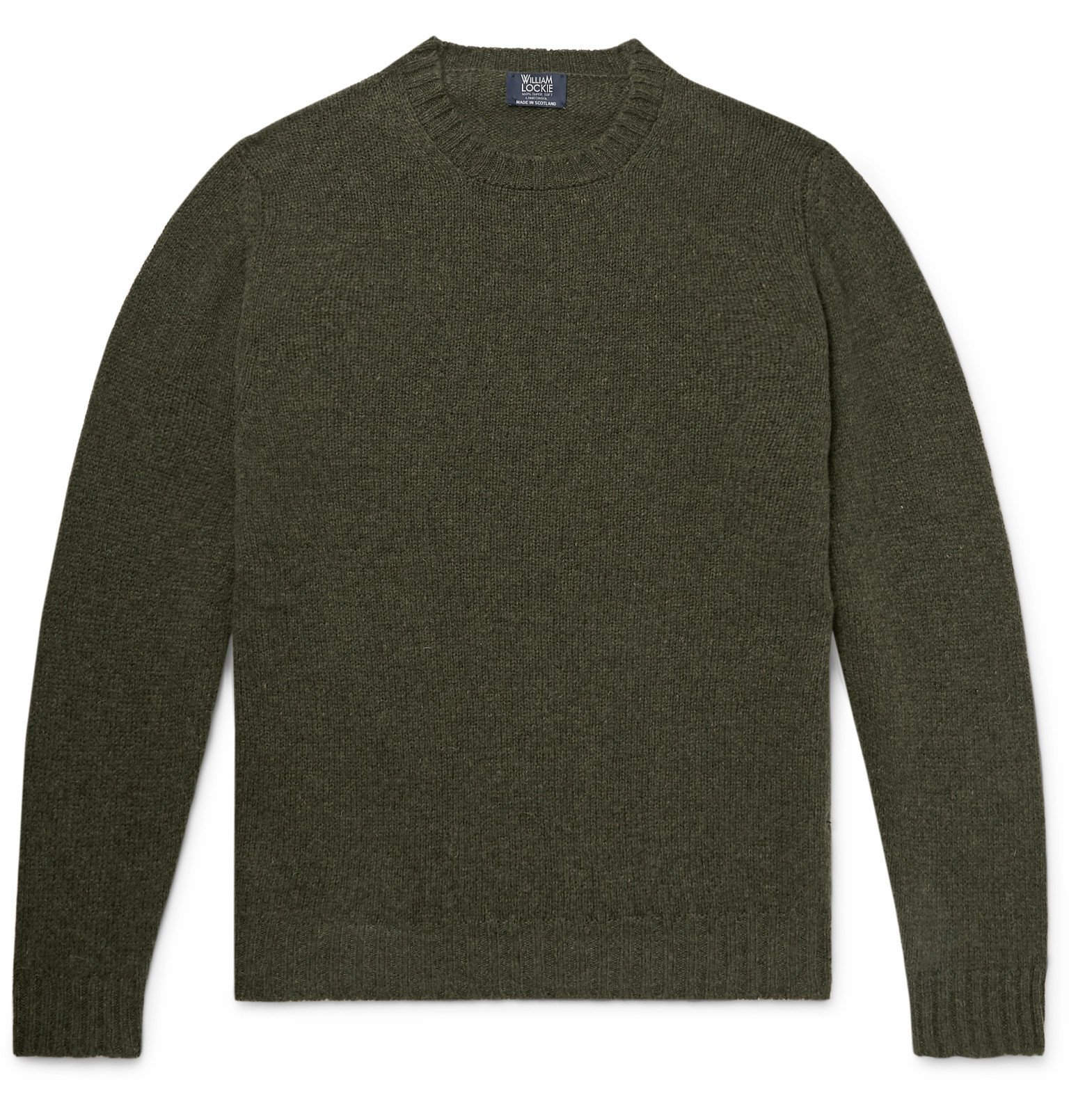 Photo: William Lockie - Mélange Wool Sweater - Green