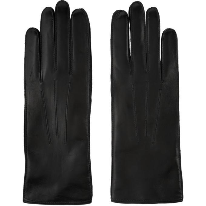 Photo: Ann Demeulemeester Black Leather Joris Gloves
