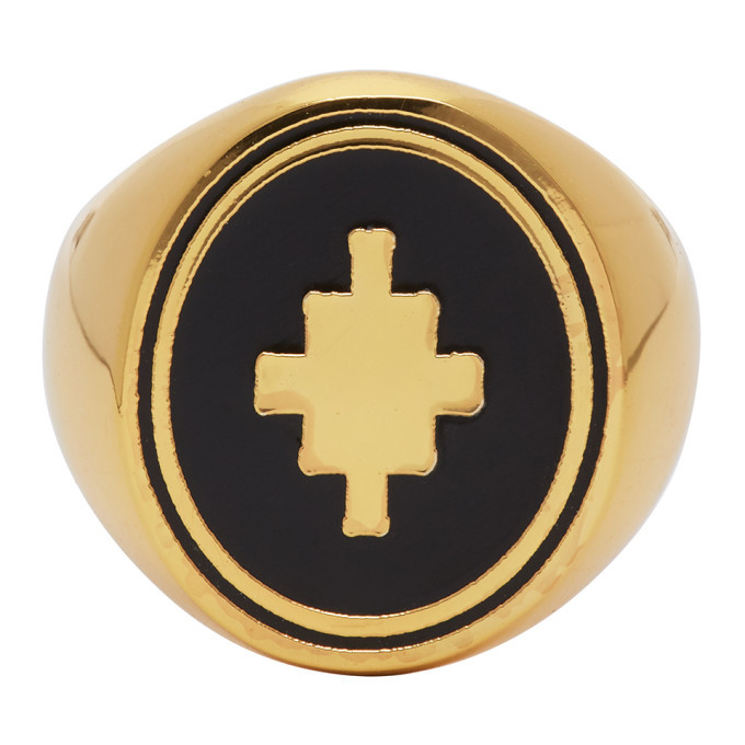 Photo: Marcelo Burlon County of Milan Gold Cross Ring