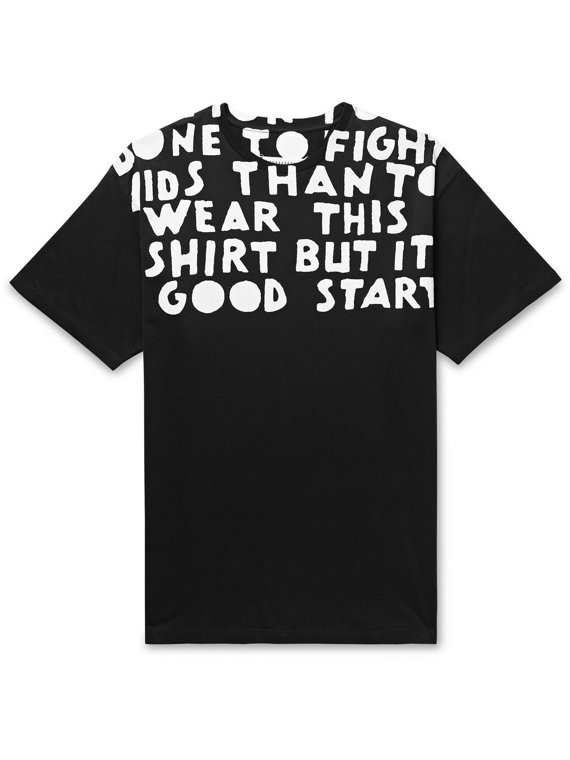 Photo: Maison Margiela - Printed Cotton-Jersey T-Shirt - Black