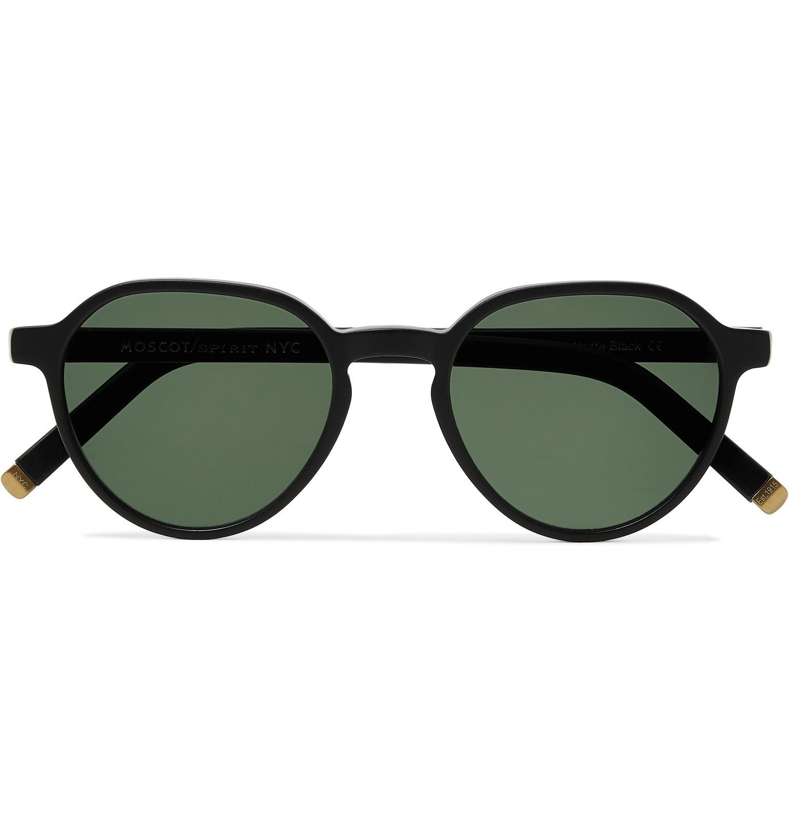 Photo: Moscot - Les Sun Round-Frame Acetate and Gold-Tone Sunglasses - Green
