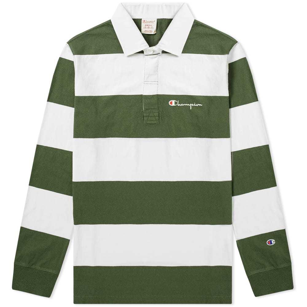 Photo: Champion Reverse Weave Stripe Rugby Shirt