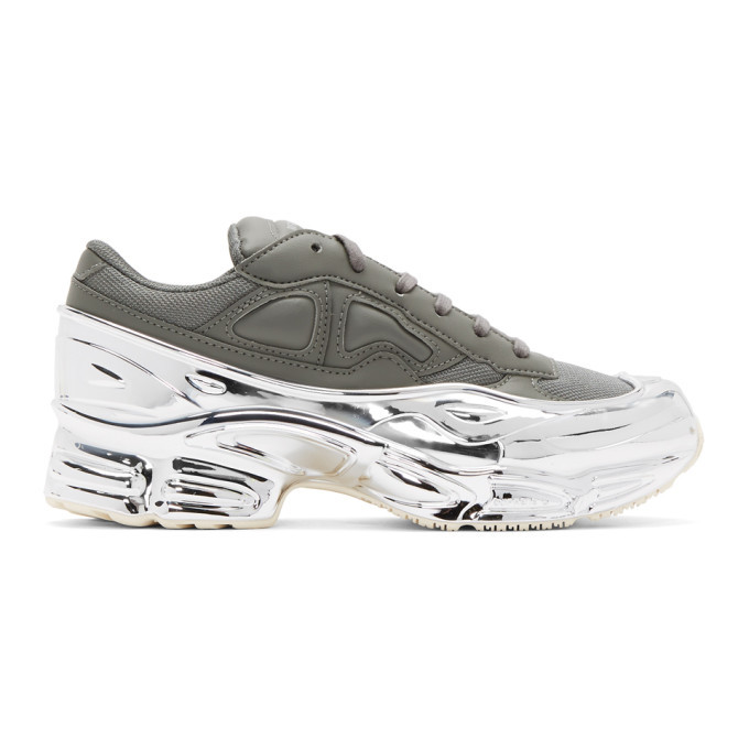 Photo: Raf Simons Grey and Silver adidas Originals Edition Ozweego Sneakers