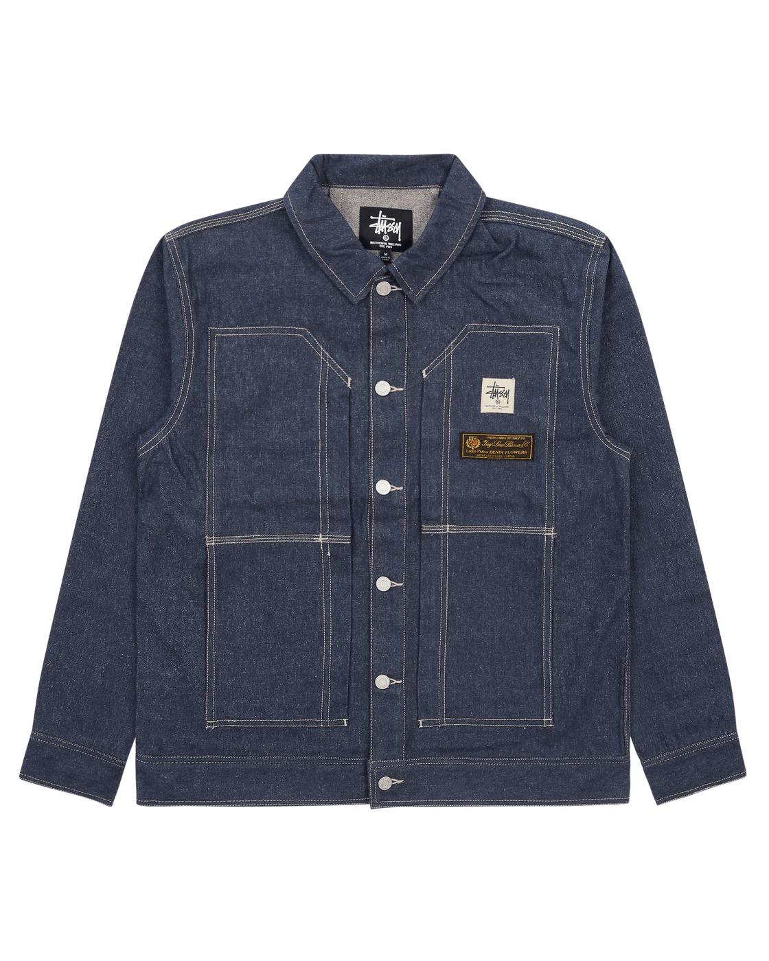 1017 Alyx 9sm Stussy & Mmw Work Jacket Blue Denim