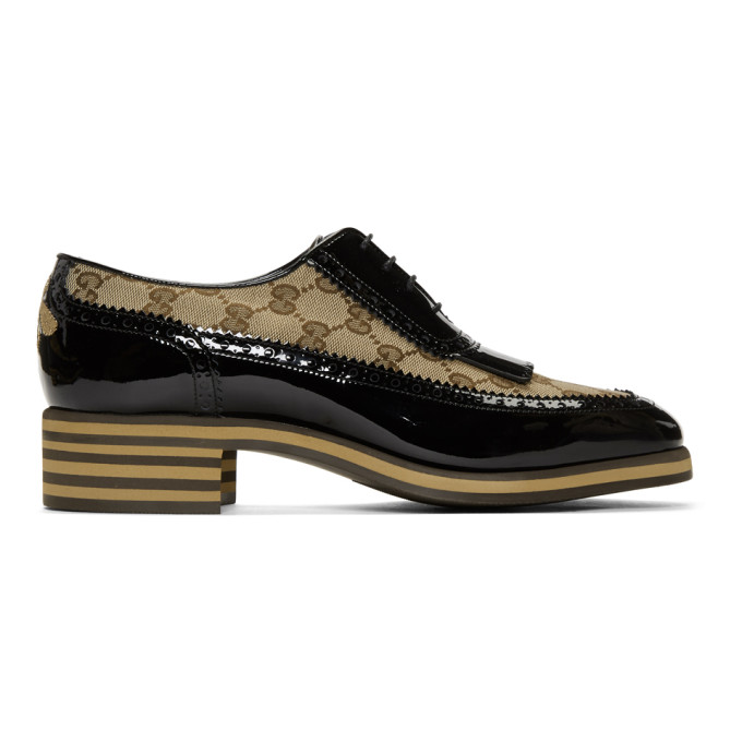 Photo: Gucci Black GG Thomson Brogues