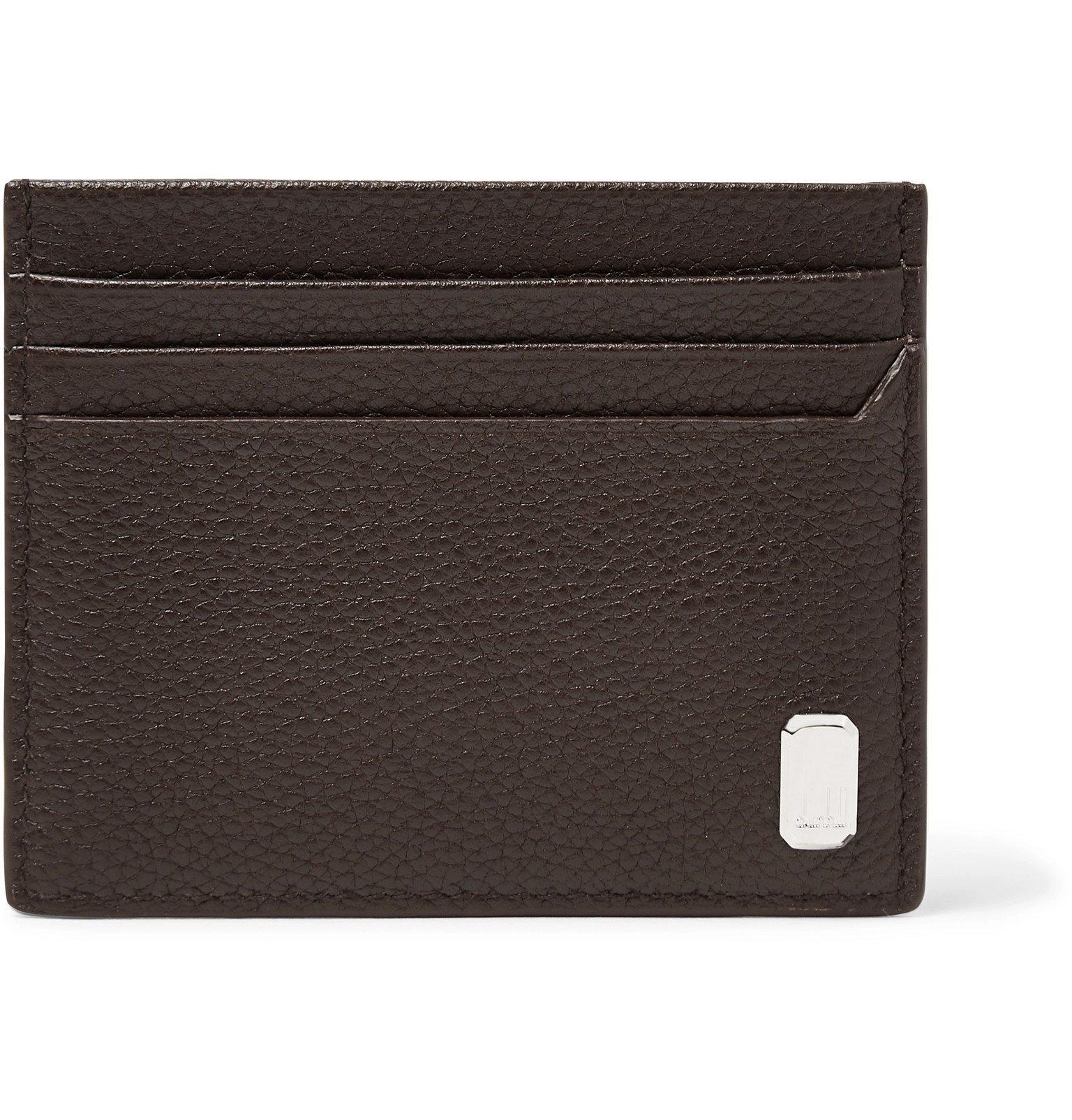 Dunhill - Belgrave Full-Grain Leather Cardholder - Brown