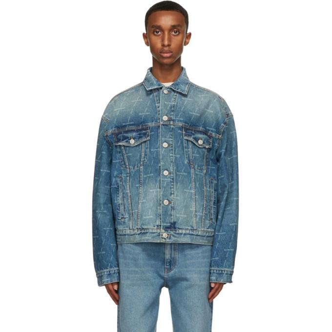 Photo: Balenciaga Blue Denim Large Fit Jacket