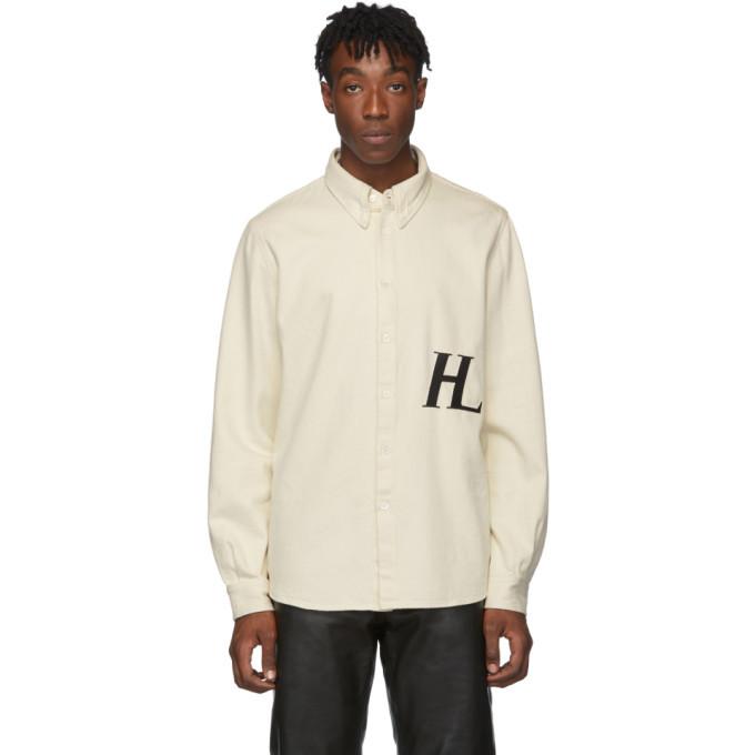 Photo: Helmut Lang Off-White Masc Button-Down Shirt