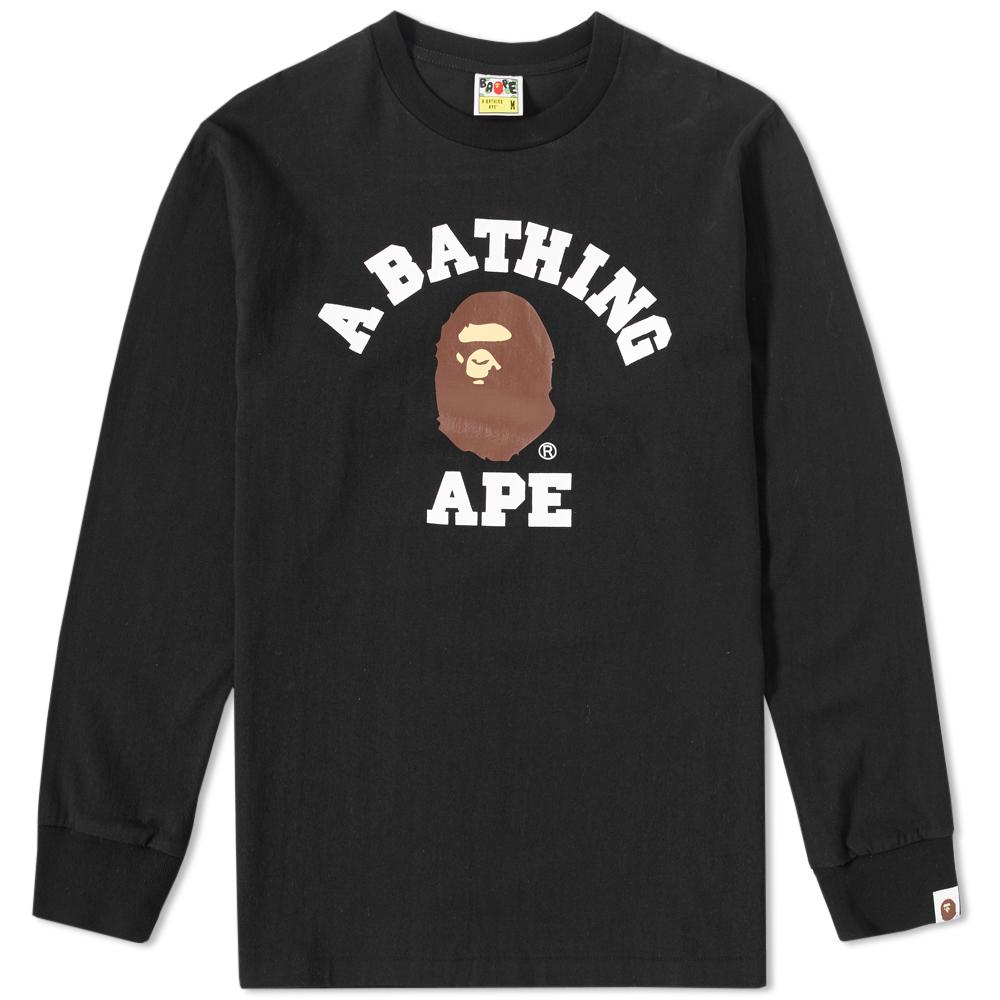 Photo: A Bathing Ape Long Sleeve College Tee