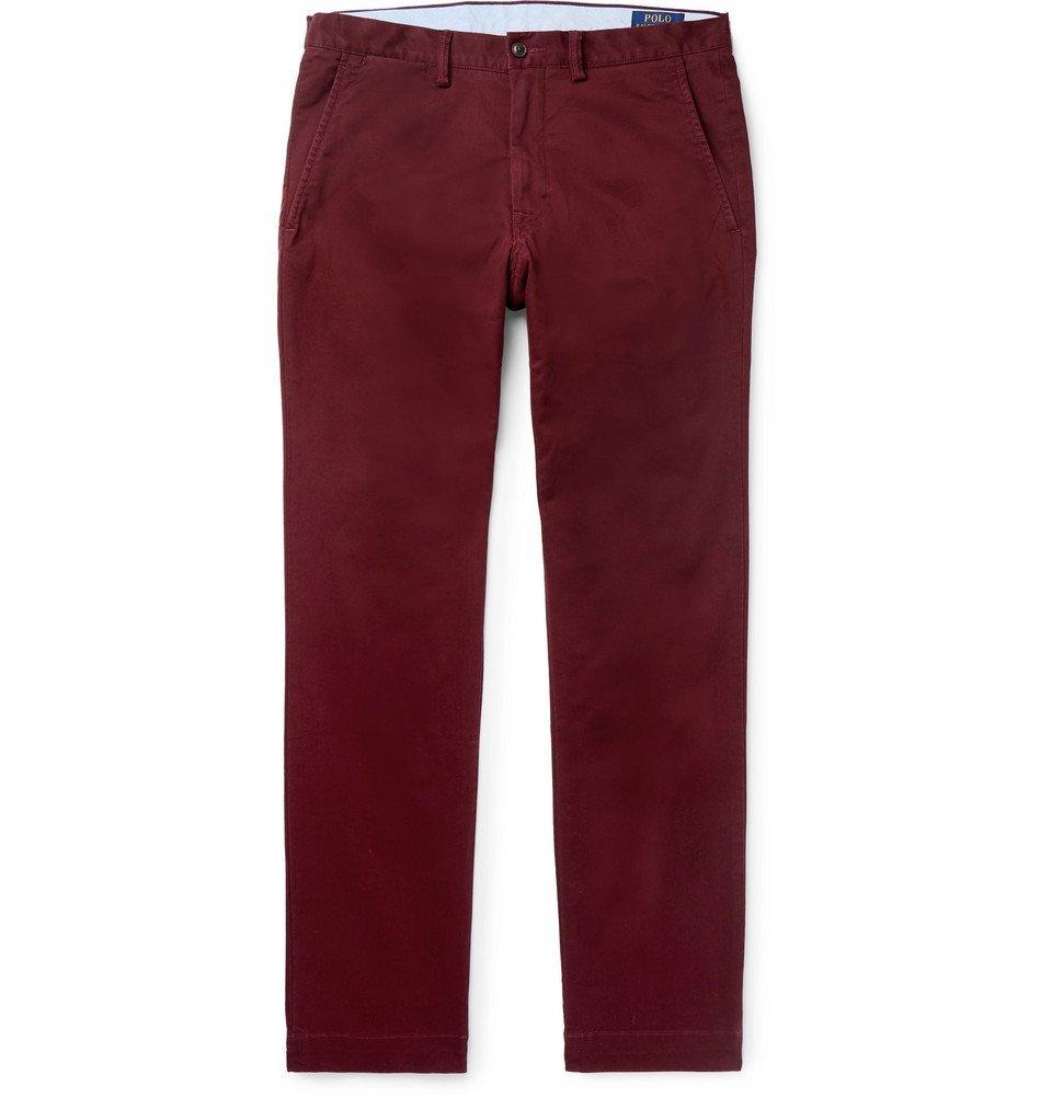 Photo: Polo Ralph Lauren - Slim-Fit Cotton-Blend Twill Chinos - Burgundy