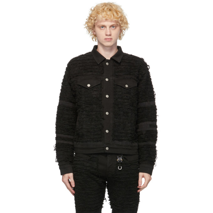 Photo: 1017 ALYX 9SM Black Blackmeans Edition Denim Shredded Jacket