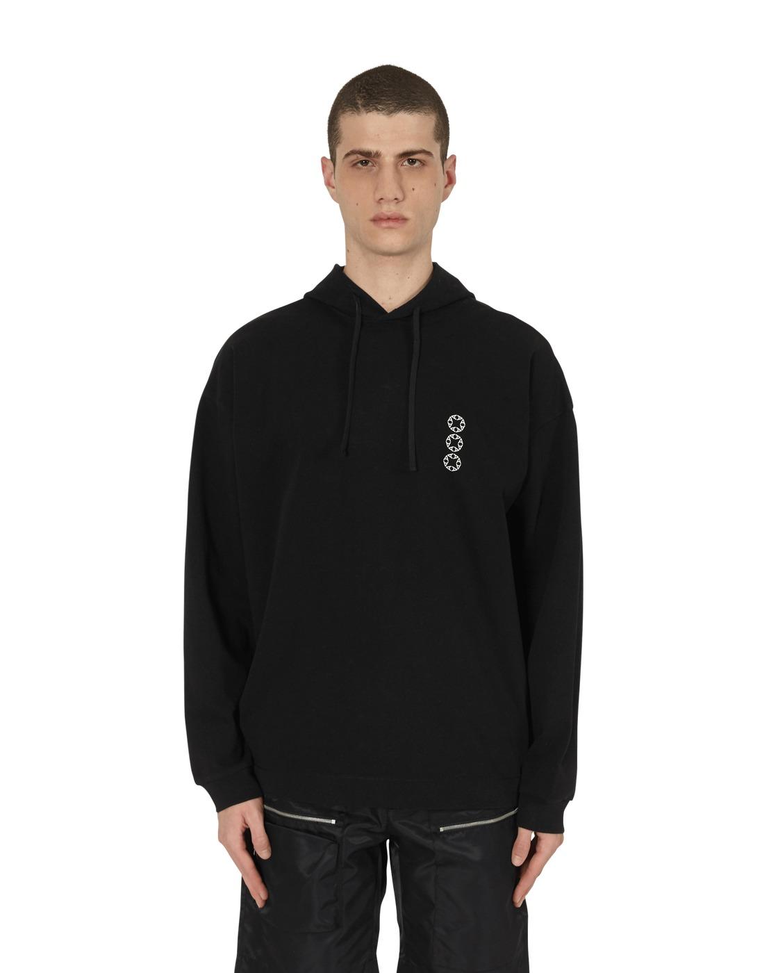 Photo: 1017 Alyx 9sm Hooded Logo T Shirt Black