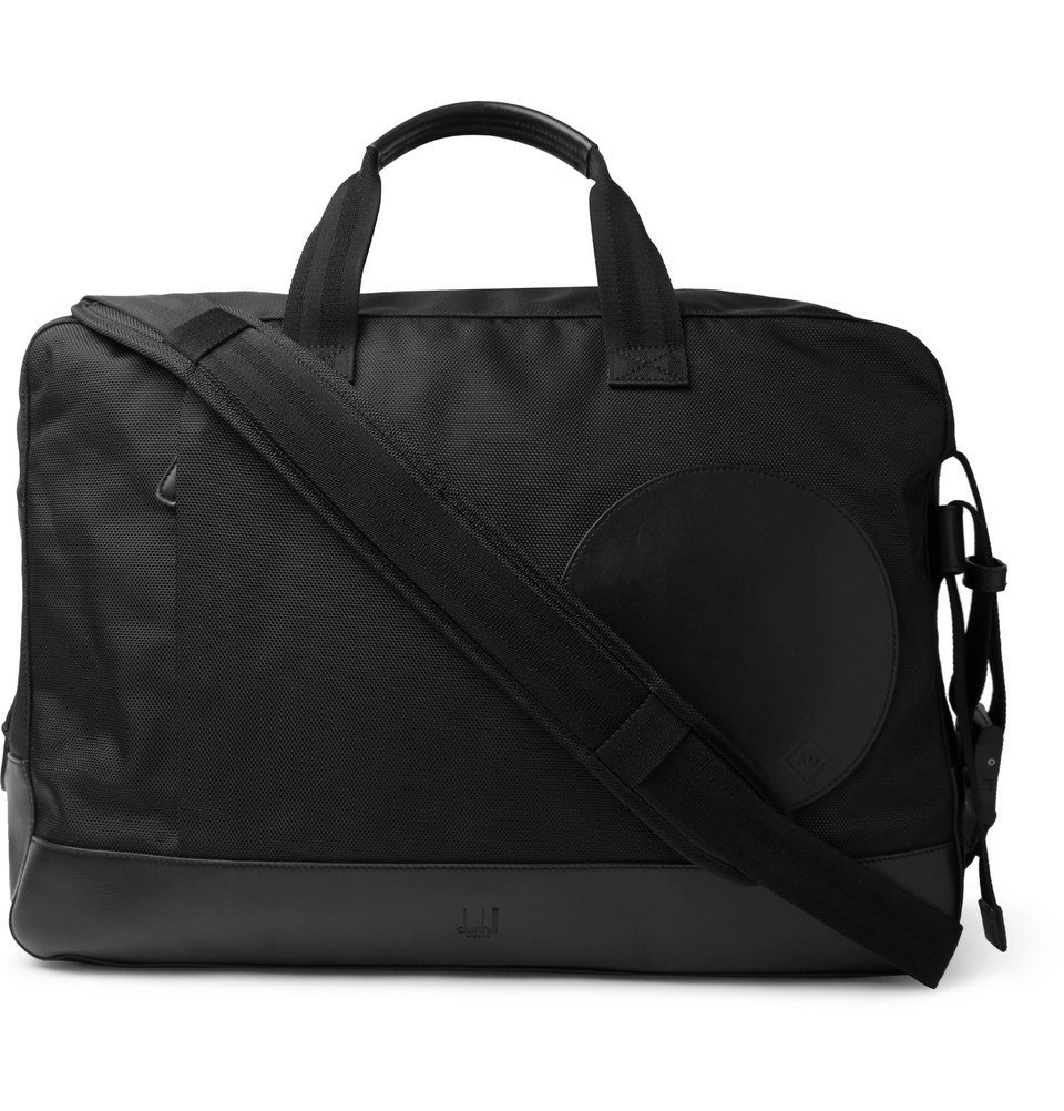 Dunhill - Radial Leather-Trimmed Canvas Holdall - Men - Black