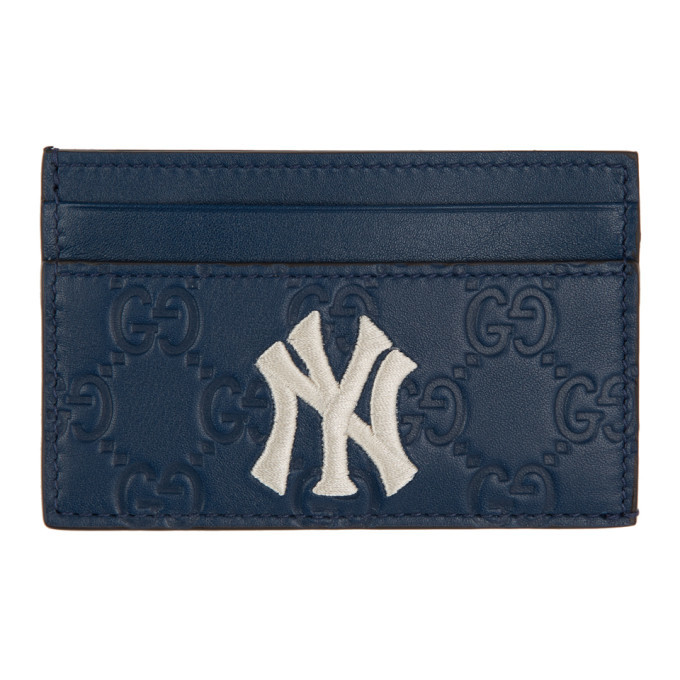 Photo: Gucci Navy NY Yankees Edition GG Card Holder