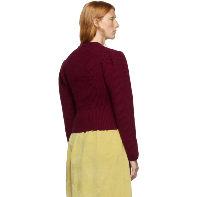 Lemaire Red Puffy Sleeves Sweater