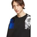 Raf Simons Black Oversized Patches Sweatshirt