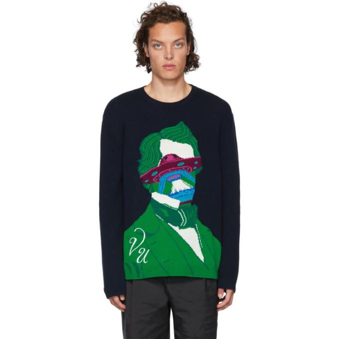 Photo: Valentino Navy Undercover Edition V Face UFO Sweater