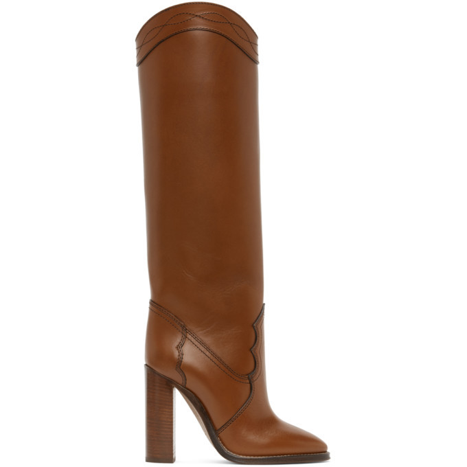 Photo: Saint Laurent Tan Kate 110 Boots