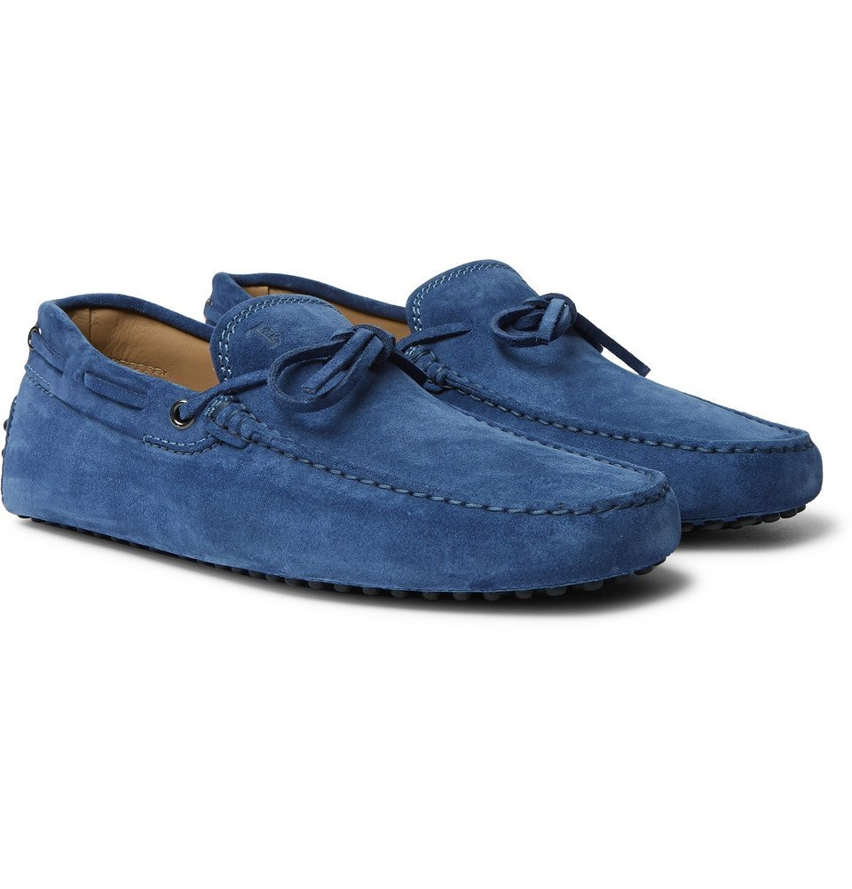 Tod's - Gommino Suede Driving Shoes - Men - Blue