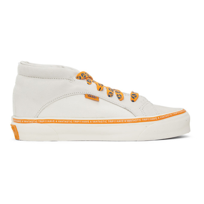 Photo: Vans Grey and Orange Taka Hayashi Edition Snake Trail LX Sneakers