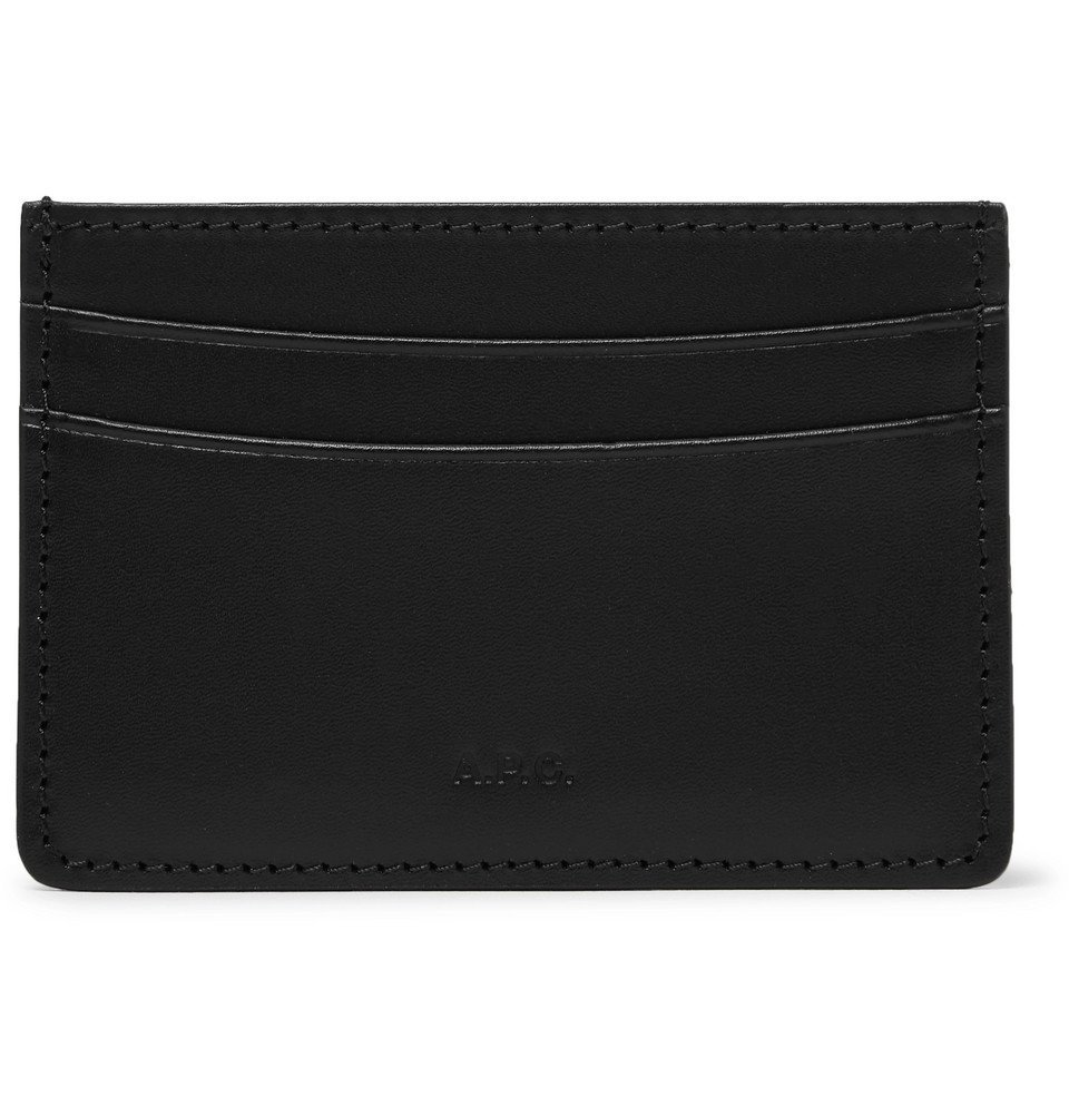 Photo: A.P.C. - Andre Leather Cardholder - Black