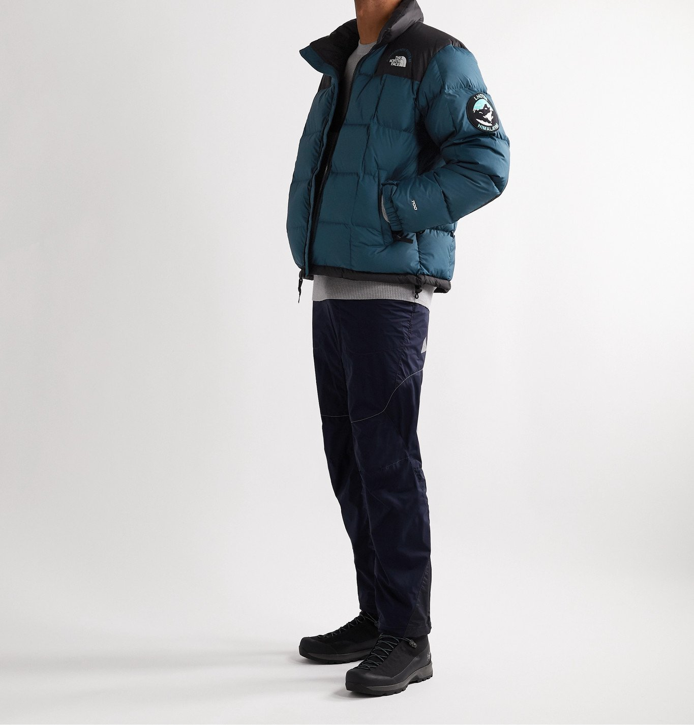 The North Face - NSE Lhotse Expedition Panelled Quilted Ripstop and Shell Down Jacket - Blue