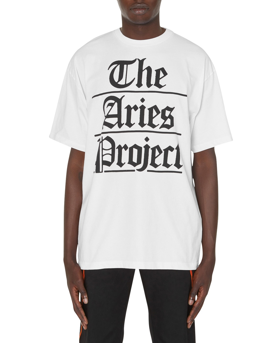 Photo: Aries Project T Shirt White/Black
