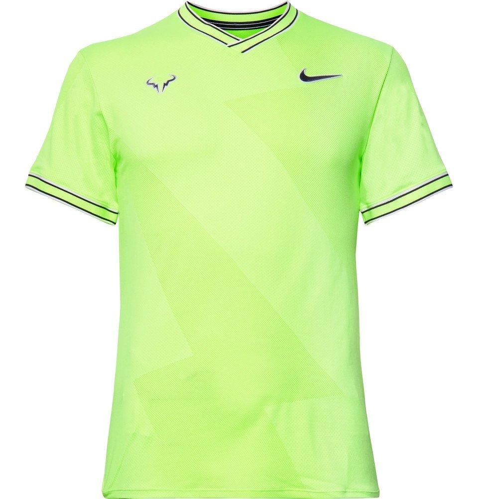 Photo: Nike Tennis - NikeCourt Rafa AeroReact T-Shirt - Lime green