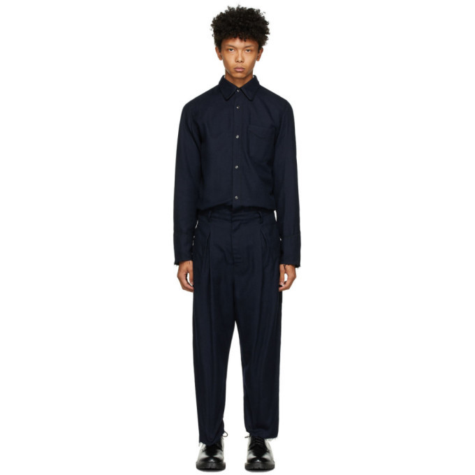 Photo: BED J.W. FORD Navy Wool Western Jumpsuit