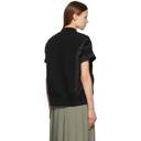 Sacai Black 3-Pocket Sponge Short Sleeve Sweater