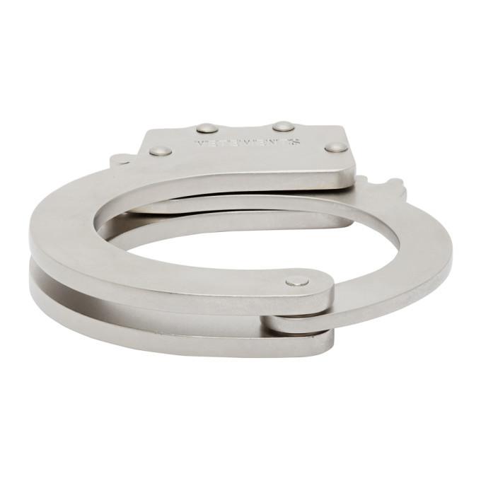 Photo: VETEMENTS Silver Handcuff Bracelet