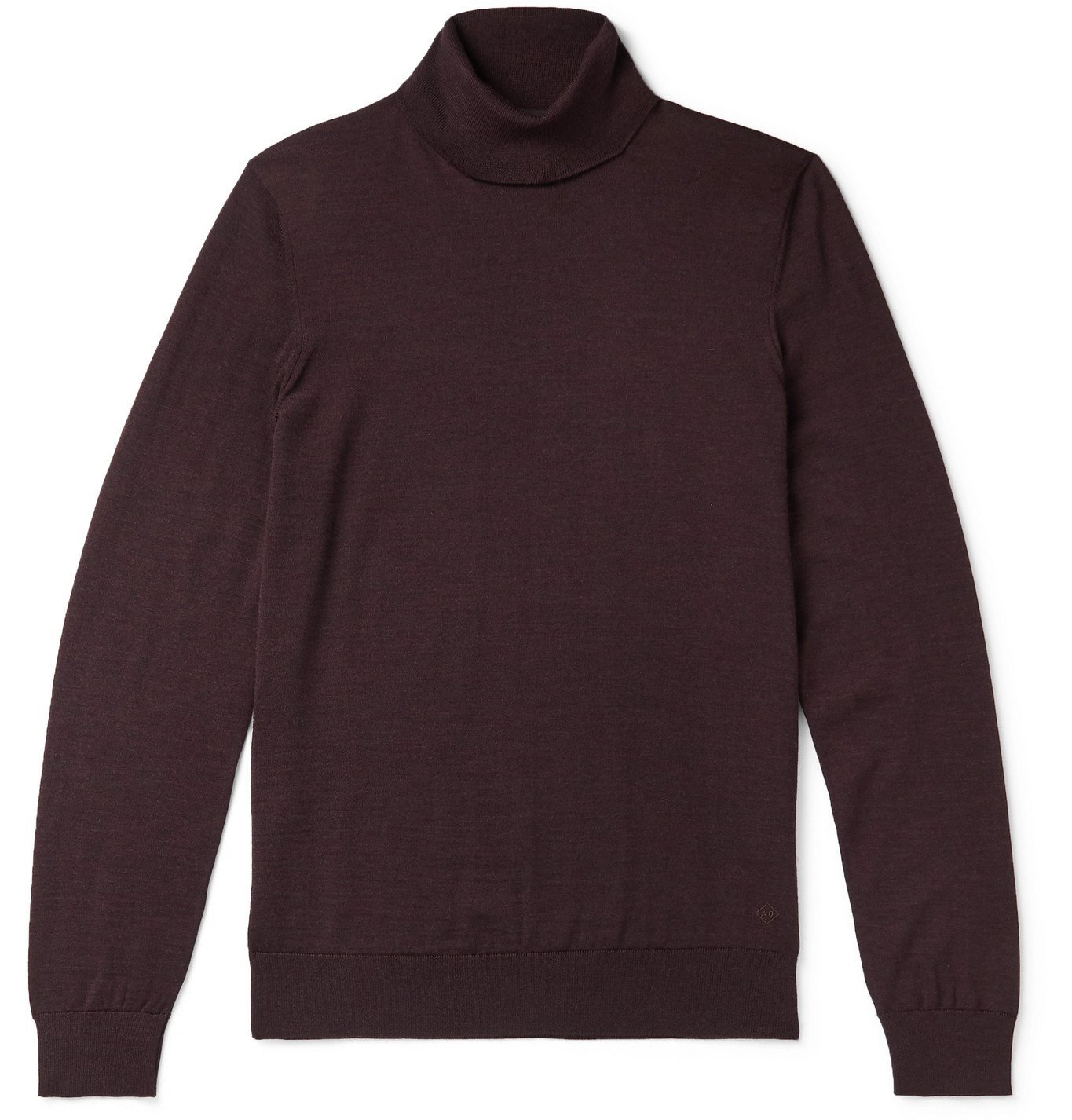 Dunhill - Slim-Fit Wool Rollneck Sweater - Burgundy