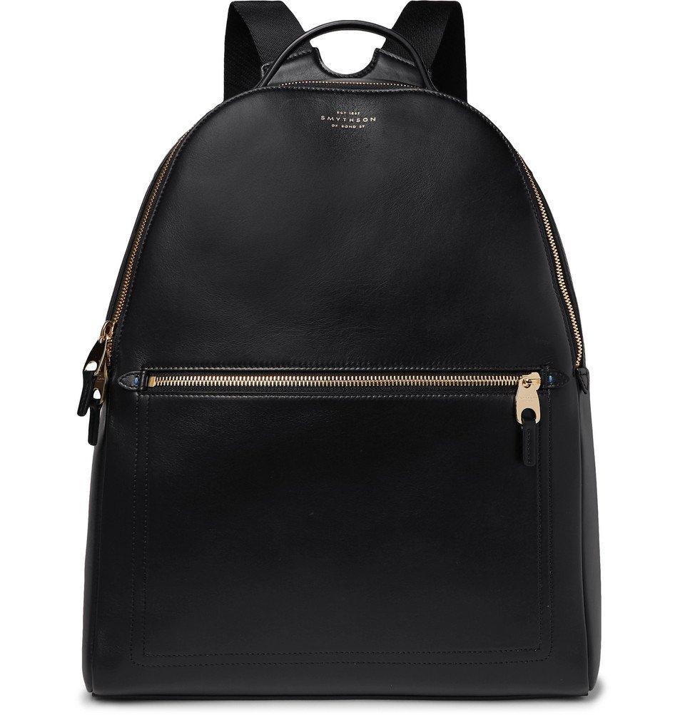 Smythson - Bond Leather Backpack - Black