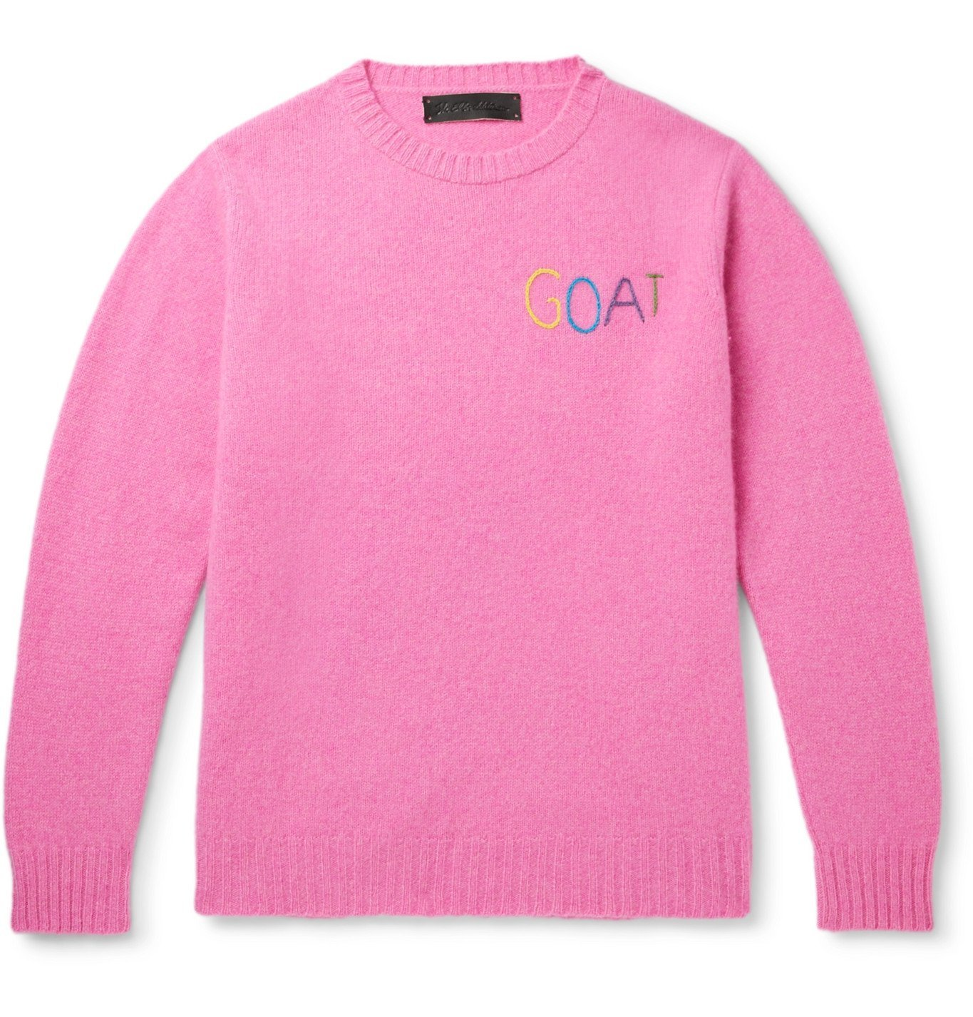 Photo: The Elder Statesman - Embroidered Cashmere Sweater - Pink