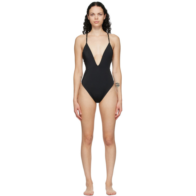 Photo: Fendi Reversible Brown and Black Forever Fendi One-Piece Swimsuit