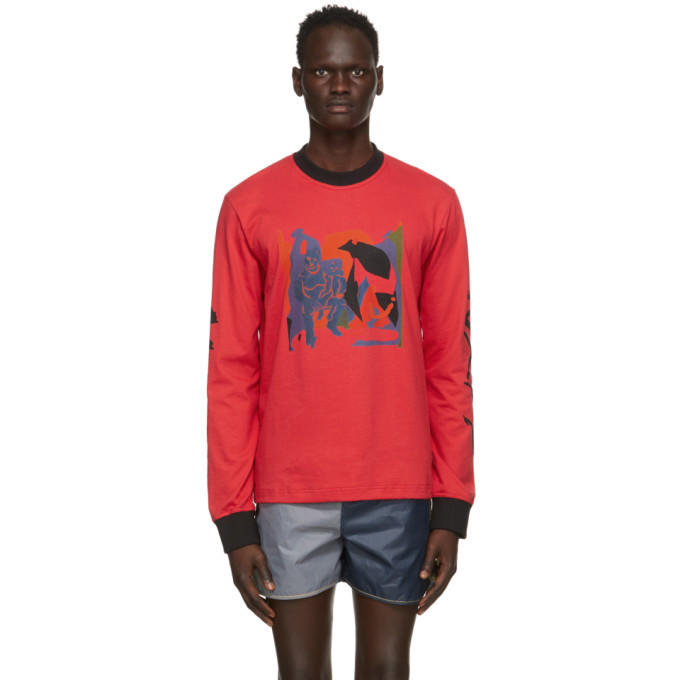 Photo: Bethany Williams Red Graphic Long Sleeve T-Shirt