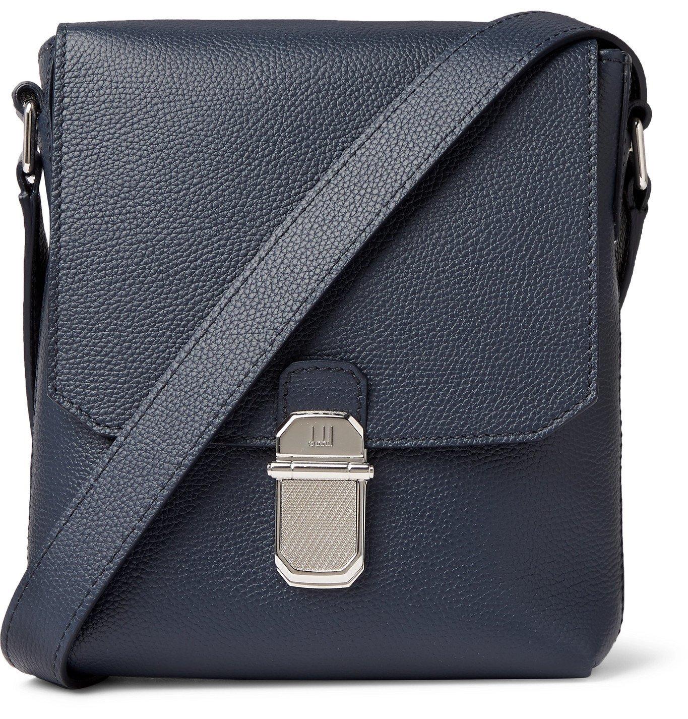 Dunhill - Belgrave Full-Grain Messenger Bag - Blue