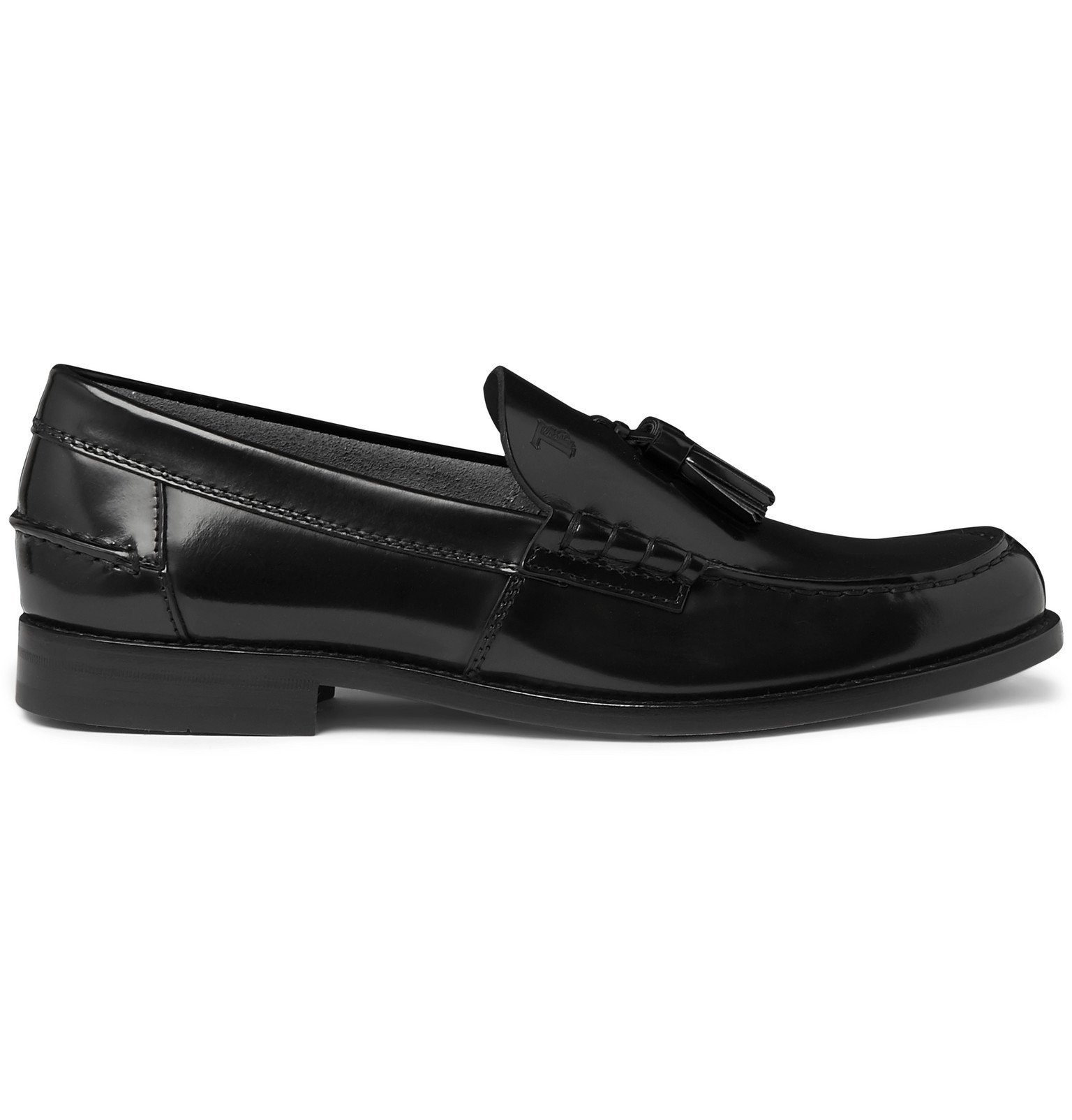 Tod's - Polished-Leather Tasselled Loafers - Black