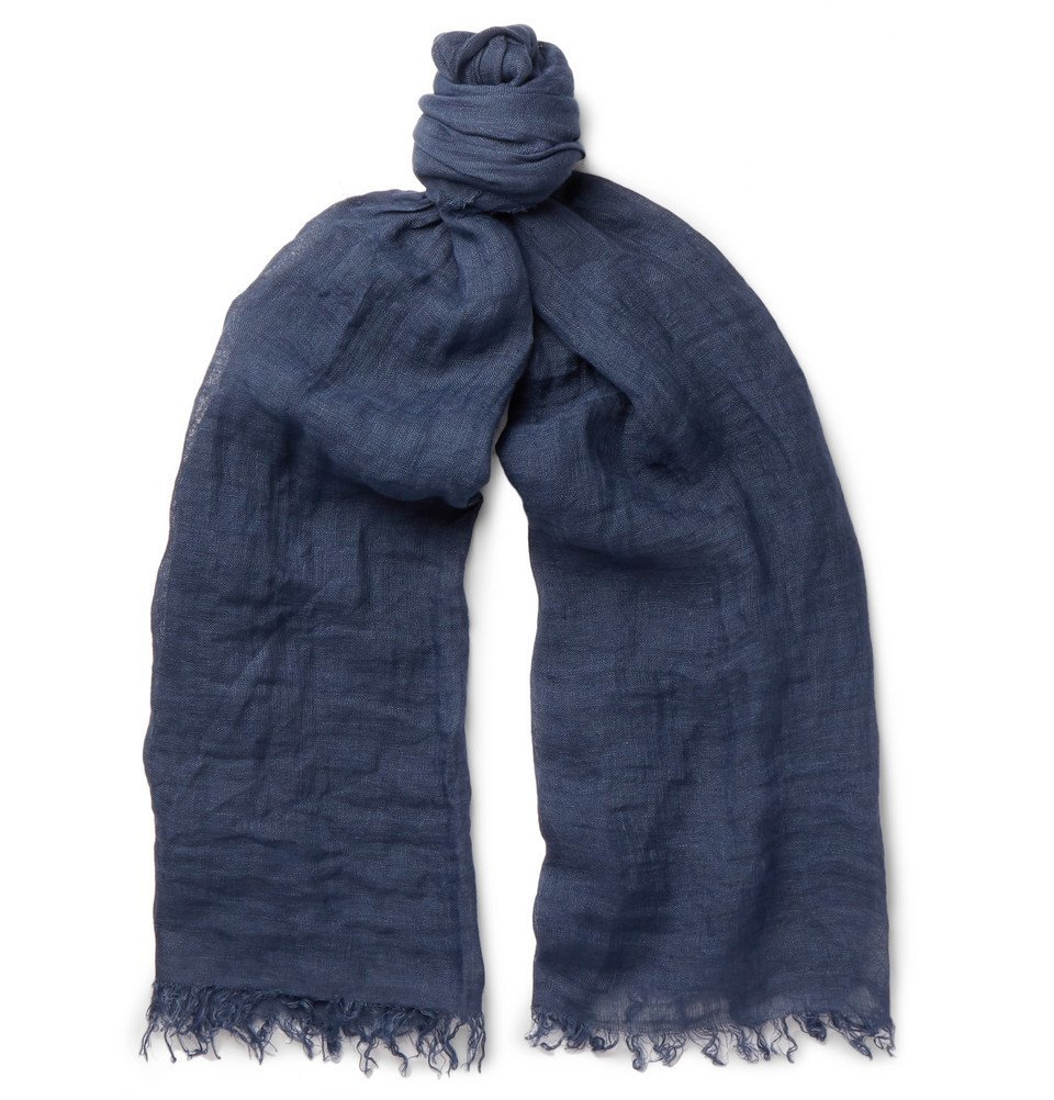 Photo: Oliver Spencer - Gadiar Linen Scarf - Navy