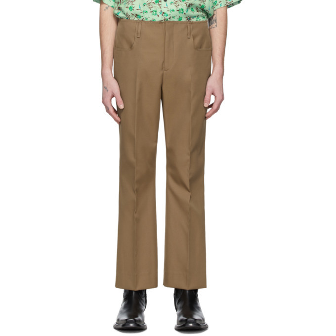 Acne Studios Brown Twill Bootcut Trousers